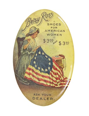 Betsy Ross Shoes Pocket Mirror