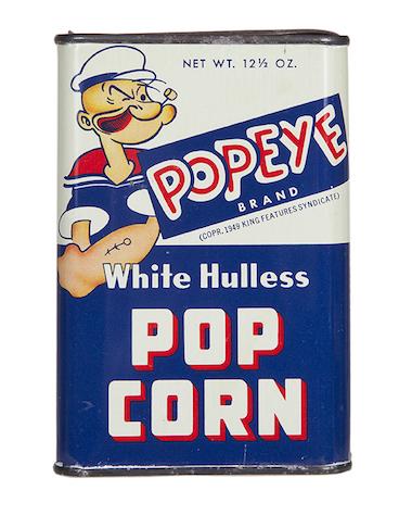 Popeye Pop Corn Tin
