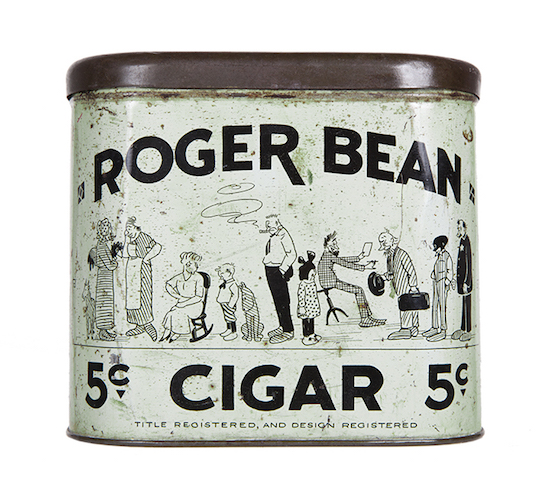 Roger Bean Cigar Can