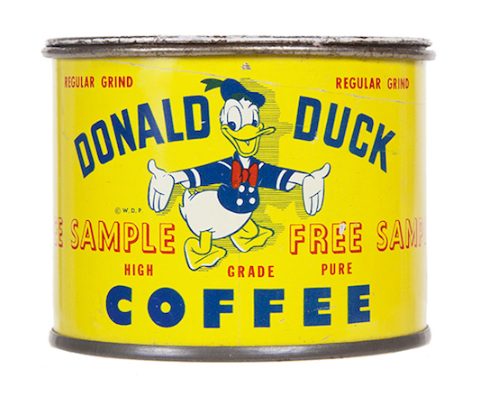 Donald Duck Coffee Sample