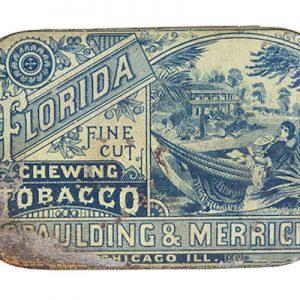 Florida Flat Pocket Tobacco Tin