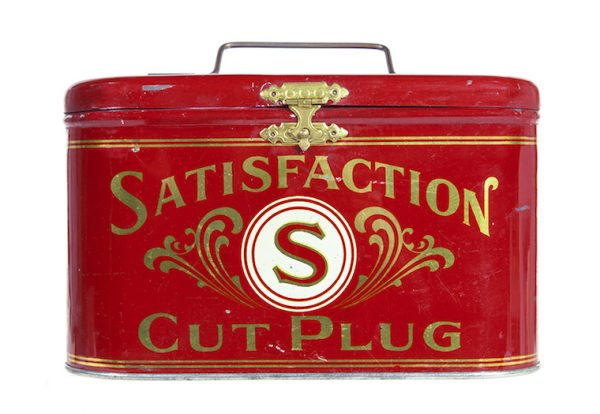 Satisfaction Cut Plug Tobacco Tin