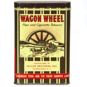 Wagon Wheel Tobacco Tin