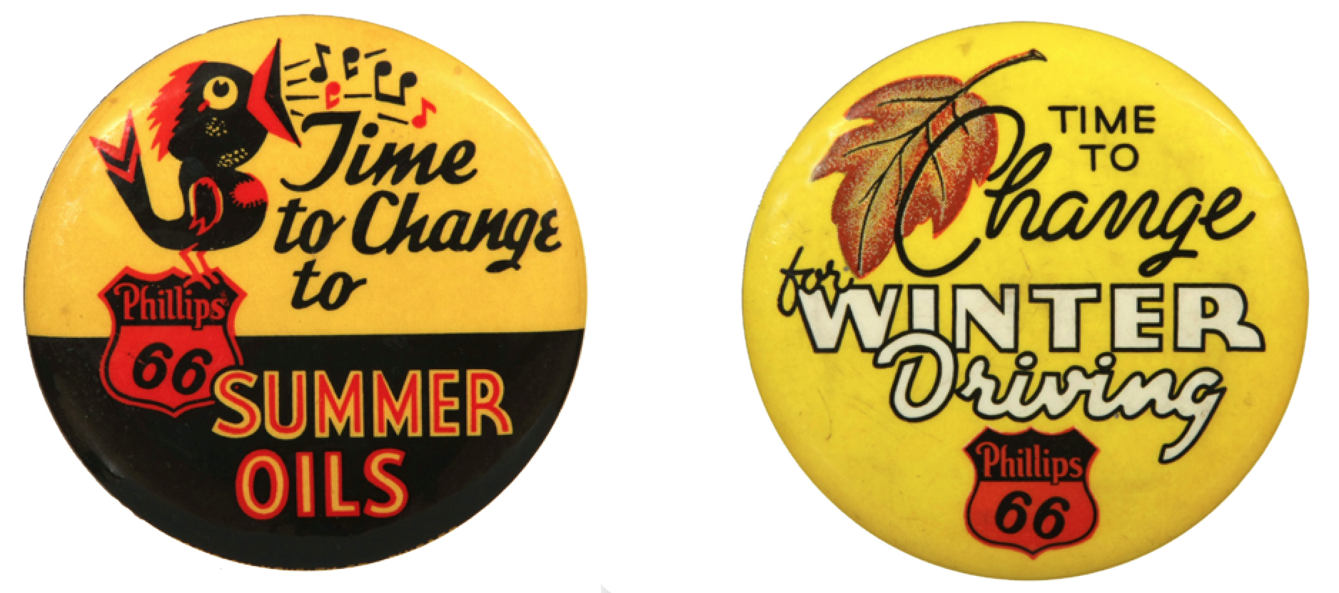Phillips Summer and Winder Oil Badges