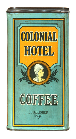 Colonial Hotel Coffee Tin