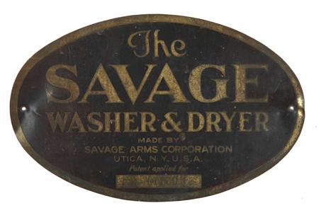 Savage Washer & Dryer Sign