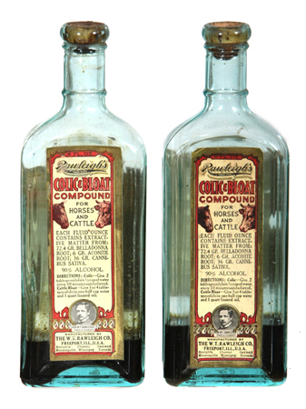 Rawleigh's Colic Compound Bottles