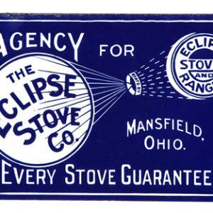 Eclipse Stove Porcelain Sign
