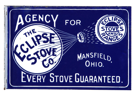 Eclipse Stove Porcelain Sign