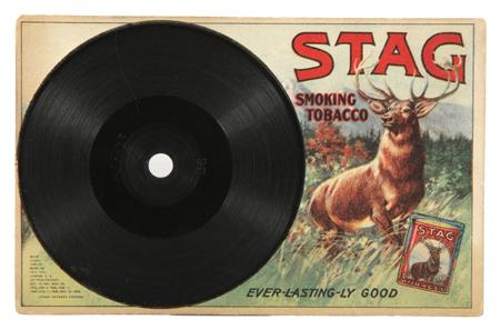 Stag Tobacco Record Postcard