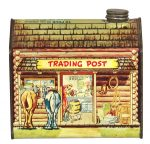 Log Cabin Trading Post Tin