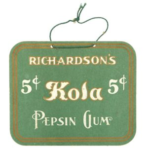 Richardson's Kola Gum Sign