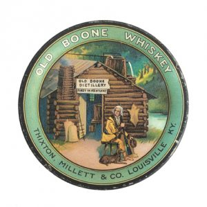 Old Boone Whiskey Tip Tray