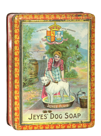 Jeyes' Dog Soap Tin