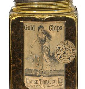 Gold Chips Tobacco Jar