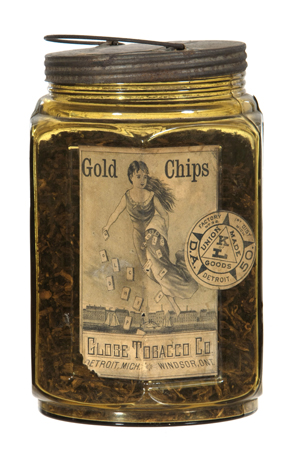 Gold Chips Tobacco Jar