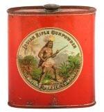 Indian Rifle Gunpowder Tin