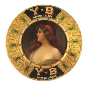 Y-B Cigars Art Plate