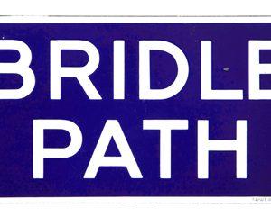 Bridle Path Porcelain Sign