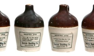 Miniature Detrick Destilling Whiskey Jugs