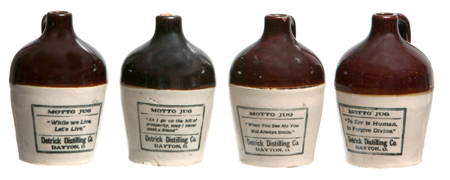 Miniature Detrick Destilling Whiskey Jugs