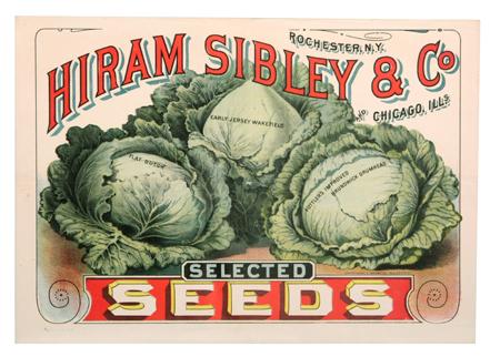 Hiram Sibley Seeds Sign