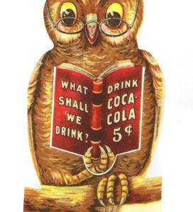 Coca-Cola Owl Bookmark