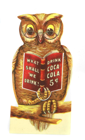 Coca-Cola Owl Bookmark