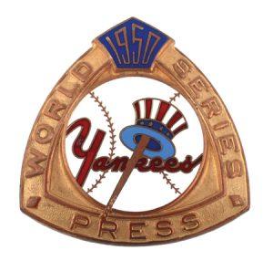 1950 Yankees World Series Press Pin
