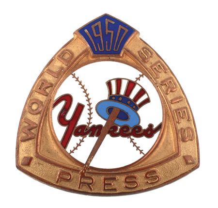 1950 Yankees World Series Press Pin