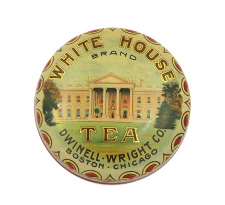 White House Tea Tin