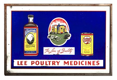 Lee Poultry Medicines Sign