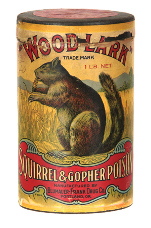Wood-Lark Squirrel Poisin Container