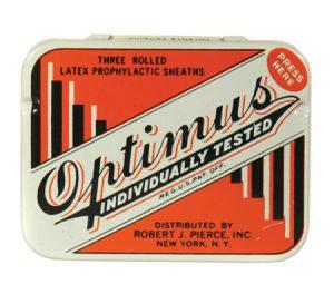 Optimus Condom Tin