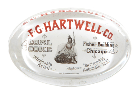 Hartwell Coal Paperweight