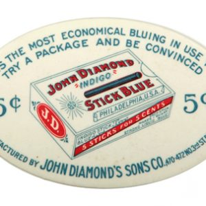 John Diamond Stick Blue Pocket Mirror