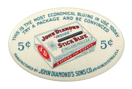 John Diamond Stick Blue Pocket Mirror