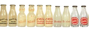 Dairy bottle Salt & Peppers Shakers