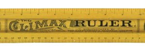 Climax Advertising Ruler