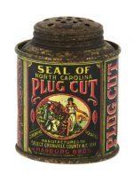 Seal of North Carolina Tobacco Sample Tin