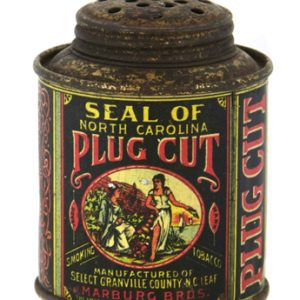 Seal of North Carolina Tobacco Sample Tin