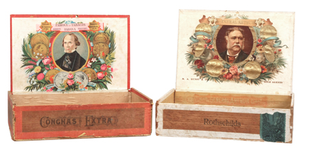 Vintage Political Cigar Boxes