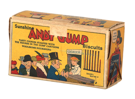 Andy Gump Biscuit Box