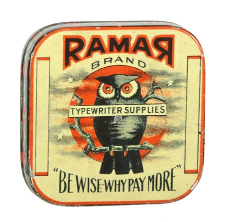 Ramar Typewriter Ribbon Tin
