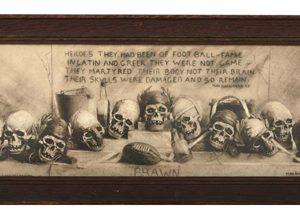 Football Skulls Print
