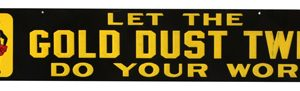 Gold Dust Twins Strip Sign