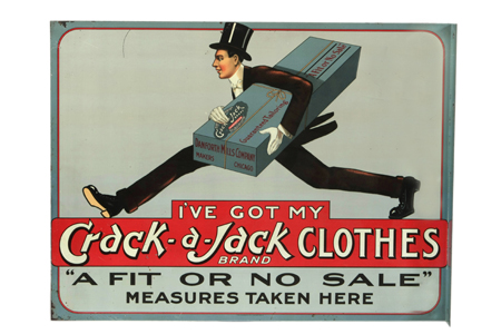 Crack-a-Jack Clothes Sign