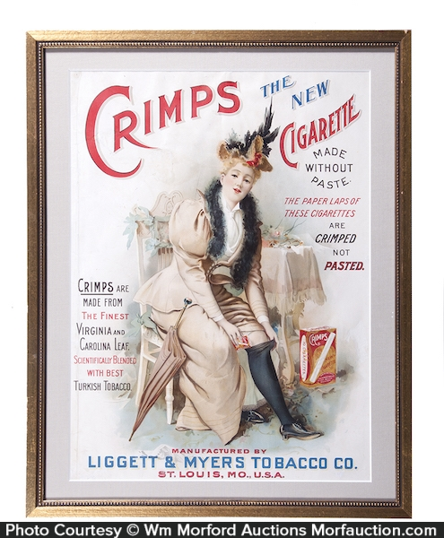 Crimps Cigarette Sign