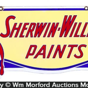 Sherwin-Williams Paints Porcelain Sign