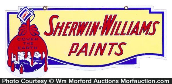 Sherwin-Williams Paints Porcelain Sign